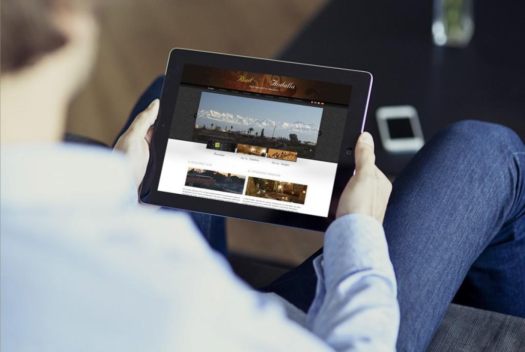 Création site web Riad Andalla Marrakech