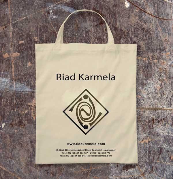 Karmela conception sac papier tissu marrakech maroc