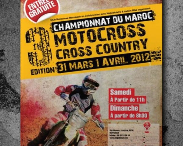 Traveaux de communication de l'evenement Motocross cross country
