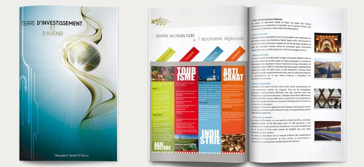 creation brochure marrakech maroc